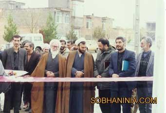 افتتاح يكي از پروژه هاي عمراني در شهرستان با حضور مسئولين