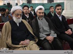 حسین سبحانی نیا در مراسم منادیان فجر در مدرسه عالی شهید مطهری